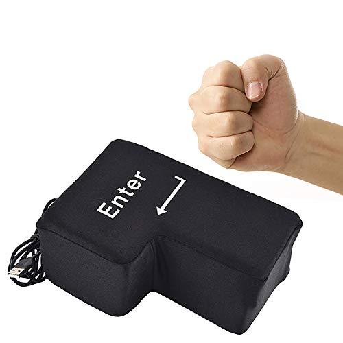 Goodbox Big Enter Taste Key Kissen Knopf Office Schaum Nickerchen Kissen Anti Stress Relief Größe Vent Werkzeuge mit Unbreakable USB Dekompression -