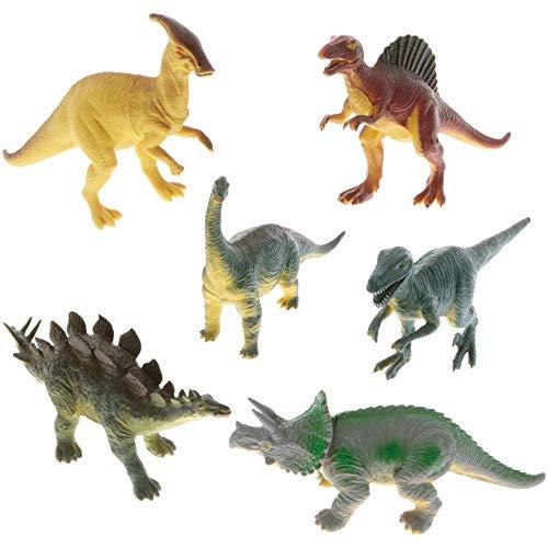 Dinosaurier Spielzeug 6 Stk Set Figuren Gummi Party Mini Welt Miniatur Geburtstag Dekoration
