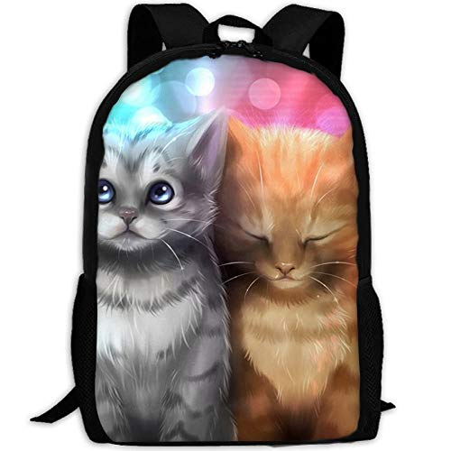 shuangshao liu Orange Cats Music Headphones Unisex Adult Custom Rucksack,School Casual Sports Book Bags,Durable Oxford Outdoor College Laptop Computer Shoulder Bags,Lightweight Travel Tagesrucksäcke