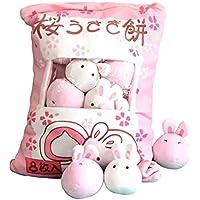 Jcsdhly Bolsa de Conejo Juguete de Peluche, Pudding Animal Cojin Mini Conejo Suave Juguete para