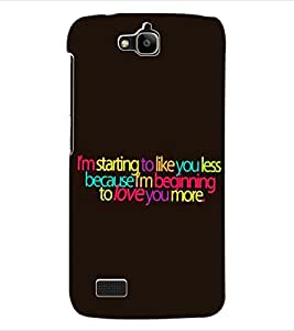 ColourCraft Love Quotes Back Case Cover for HUAWEI HONOR HOLLY
