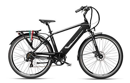 """Armony Monza, Bicicletta Elettrica Unisex Adulto, Nero Grigio, 28\"""""""