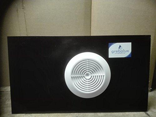 grebalux Fensterabdichtung für Klimageräte,Komplettset Milchglas für Rollladen bis 110cm, alle Durchmesser (schwarz)