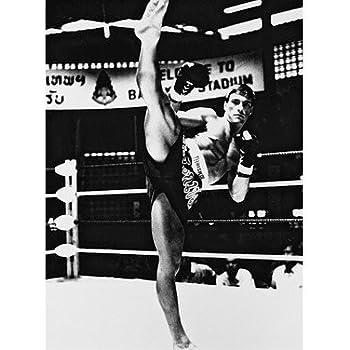 JEAN-CLAUDE VAN DAMME AS KURT SLOANE FROM KICKBOXER #1 - Photo cinématographique en noir et blanc- STANDARD - 25x20cm