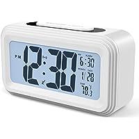 Réveil Digital Alarme Horloge Numérique 2018 Version,Annsky électronique à piles numérique Alarm Clock LCD avec Snooze, rétro-éclairage, lumière de nuit, température, affichage de la date