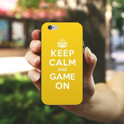 Apple iPhone X Silikon Hülle Case Schutzhülle Keep Calm Gaming Statements Silikon Case schwarz / weiß