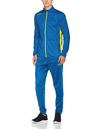 uhlsport Essential Classic Anzug Herren Trainingsanzug, azurblau/limonengelb, 2XL