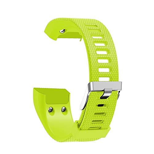 Vamoro Ersatzarmband aus weichem Silikonarmband für Garmin Vivosmart HR Sport Weicher Verschleißfest Ersatz Armband Schnellverschluss Uhrenarmband(Grün)