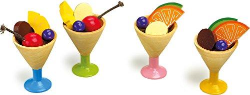 Small Foot by Legler Eiscreme für Kinderküche Küchenspielzeug Lebensmittel aus Holz