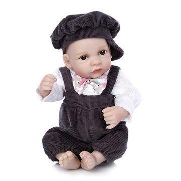 Generic 11inch Reborn Baby Doll Handmade Silicone Boy Play House Toy