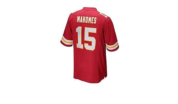 Kansas City Chiefs v/êtements de Formation Rugby Patrick Mahomes # 15 Pilang Sport Casual T-Shirt for Hommes V/êtements de Sport Football am/éricain