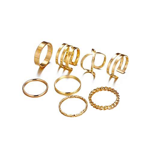 HarlaGold Silber Ringe für Frauen Weinlese-Herz-Bogen-Twist-Finger-Ring-Knöchel Female Schmuck Hochzeit Geschenke, Fcs1642