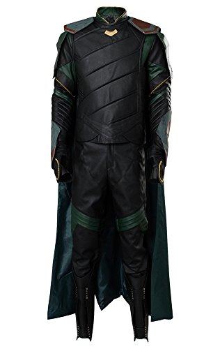 Thor 3 Ragnarok Loki Outfit Komplettset Cosplay Kostüm Herren XS (Herren Für Kostüm Thor)