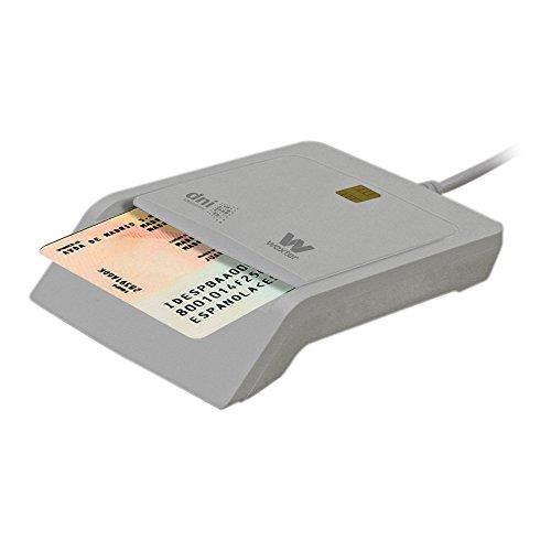Woxter DNI Electrónico - Lector de tarjetas de memoria, color blanco