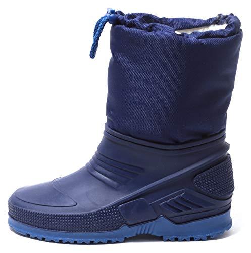 Zapato Kinder Schneestiefel Snowboots Winterstiefel wasserdicht warm gefüttert Gummi Galosche Alu Isolierung Navy BLAU Gr. 27-30 (27/28 EU)