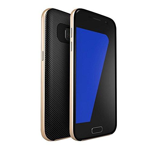 iMounTop Samsung Galaxy S7 Hülle Case Tasche Zubehör Gehäuse Rahmen Fall Etui Soft TPU + PC Anti-stoß Schutzhülle Tasche Schale für Samsung Galaxy S7 Smartphone (5,1 Zoll (12,9 cm) Golden)
