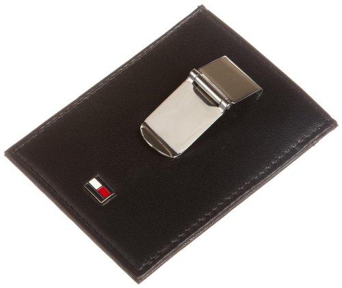 Tommy Hilfiger Herren Leder Slim Geldbörse Fronttasche, Schwarz - schwarz - Größe: One Size (Tommy Hilfiger Geldbörse Herren Slim)