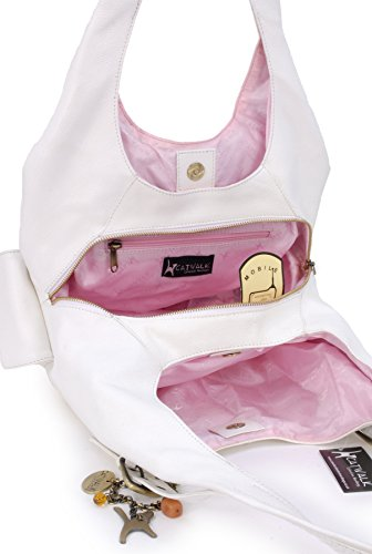in Borsa a a Collection tracolla pelle Catwalk Catwalk pelle in Bianco Donna Collection Borsa tracolla Donna rqr5wI