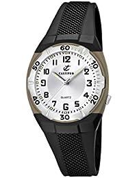 Calypso K5215/1 - Reloj analógico infantil de cuarzo con correa de plástico negra - sumergible a 50 metros