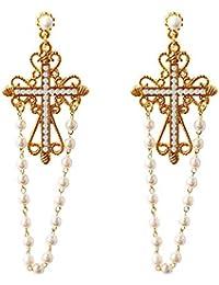 Femme Color : Sliver Uzanesx Boucles doreilles en Argent et Diamant S925