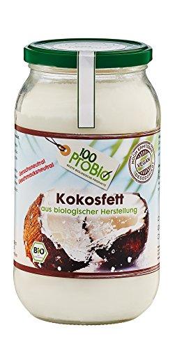 Liter 1 Kokosnuss-öl (100ProBio Kokosfett mild - geruchs- und geschmacksneutral, 1er Pack (1 x 1 l))