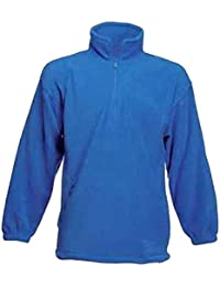 Mens 1/4 Half Zip Premium Fleece Jackets Size XS to 3XL - LEISURE WORK SPORTS CASUAL