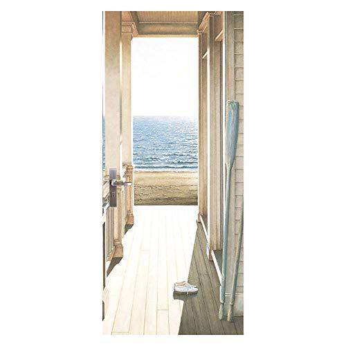 YJZ 3D Türaufkleber Dekoration Wandbild Türtapete Seeblick Abnehmbar Selbstklebend Wasserdicht PVC Türposter Renovierung Tür Wohnzimmer Schlafzimmer Küche