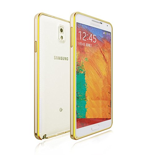 Kapa Dual Tone Circular Arc Metal Bumper Case Cover for Samsung Galaxy Note 3 NEO N7505 - Gold