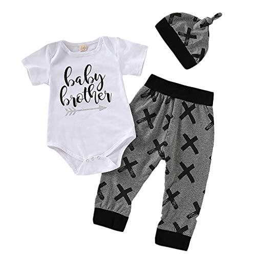 Poachers Poachers Junge Kleidung,Neugeborenes Baby 3pcs Kleidung Brief Strampler Tops + Hosen + Hut Outfits gesetzt