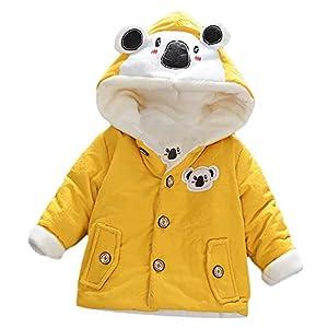 ASHOP Ropa Bebe Otoño Invierno, Niña Niño Impermeable Abrigo Koala Chaqueta Gruesa con Capucha Caliente 0-4 años 3