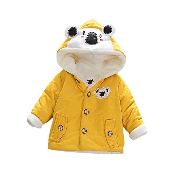 ASHOP Ropa Bebe Otoño Invierno, Niña Niño Impermeable Abrigo Koala Chaqueta Gruesa con Capucha Caliente 0-4 años 1