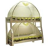 Moskitonetz Kinderbett Etagenbett Reißverschluss Gaze Kind Baby Schlafzimmer Einzelbett, grün, 1.0M
