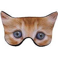 HENGSONG Nette Tiere Schlafmaske Augenmaske Reisen Schlaf Beihilfen (Katze) preisvergleich bei billige-tabletten.eu
