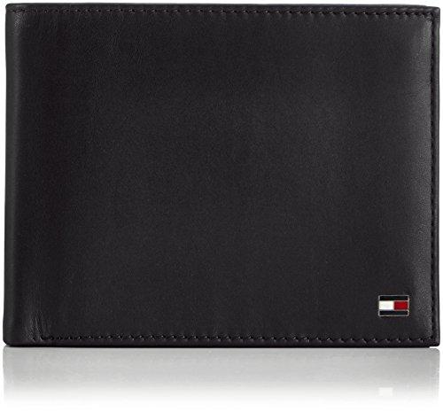 Tommy Hilfiger Herren ETON TRIFOLD Geldbörsen, Schwarz (BLACK 990), 13x10x3 cm