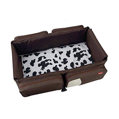 Yimidear 2 in 1 Wickeltasche und Babywiege mit Schultergurt für Kinderwagen für unterwegs