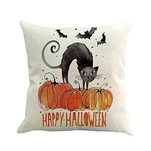 HARRYSTORE Halloween Ghost Kissenbezug Sofa Taille Wurf Kissenbezug Home DecorHalloween Ghost Pillow Case Sofa Waist Throw Cushion Cover Home Decor