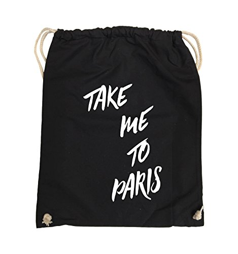 Comedy Bags TAKE ME TO PARIS Turnbeutel 37x46cm Farbe Schwarz / Pink ...