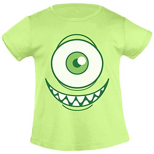 Kids Karnevals & Faschings Grinsendes Einäugiges Monsterkostüm Mädchen T-Shirt 96/104 (3-4J) Limettengrün (Besten High Die Kostüme Monster)