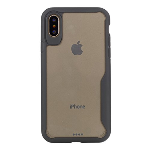 iPhone X Handycover, MOONMINI Ultra Dünn Soft TPU Silicone Stoßfest Slim Fit Handy Tasche Case Anti-Kratzer Schutzschale Anti-Drop Full Body Schutzhülle für iPhone X Rot Grau