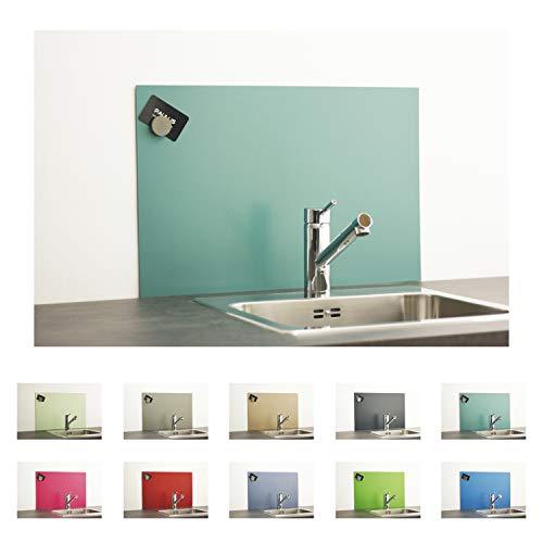 PAULUS Spritzschutz Küche Herd Wand Küchenrückwand magnetisch 60x40cm türkis, RAL 6033 minttürkis