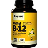 Methyl B12 1000 µg, aktives Vitamin B12 als Methylcobalamin, Lutschtabletten mit Zitronengeschmack, vegan, hochdosiert, Jarrow , 1er Pack (1 x 100 Stück)