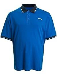 Slazenger - Polo Charlton maille piquée bleu roy - Slazenger grande taille homme - Bleu