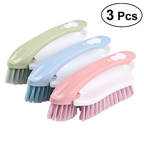 SUPVOX Mehrzweckscheuerbürste Nylon Borsten Kleidung Wäschebürste Reiniger -3PCS - Feine Peeling-reiniger