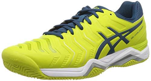 ASICS Herren Gel-Challenger 11 Clay Tennisschuhe, Mehrfarbig (Sulphur Spring/Ink Blue/Silver 8945), 46 - Tennisschuhe Herren Asics