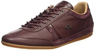 Lacoste Pour Homme Chaussures basses Ville 36Trainer - marron - Rot-Braun (DK BRW 176),