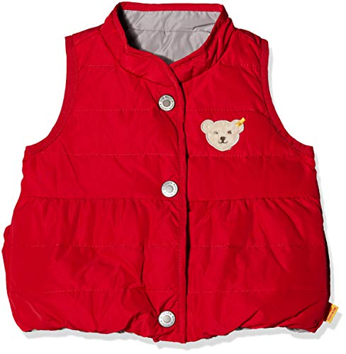 Steiff Steiff Baby - Mädchen Weste o. Arm wendbar Weste, per Pack Rot (Jester red|red 2120), 68 (Herstellergröße: 68)