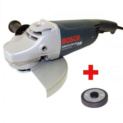 Preisvergleich Produktbild Bosch Winkelschleifer GWS 22-230JH 2200 Watt inkl. Anlaufstrombegrenzung + Bosch Schnellspannmutter für Winkelschleifer SDS-Clic mit M14 Aufnahme