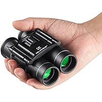 QUNSE 10x25 Jumelles pour Enfants Adultes, Lentilles Optiques Claires, Ultra-vision, Design Compact, Adapté Pour le Transport Dans une Poche ou dans un Bagage