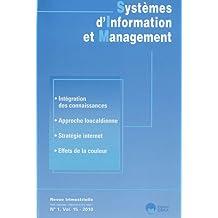 Systèmes d'Information et Management, N° 1, Vol 15 - 2010 :