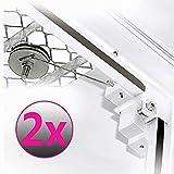 Gitterrostsicherung Protectus 2er Pack mit Stahldraht verzinkt - 2 Paar für 2 Kellerrostsicherungen - Lichtschacht Schutz gegen Einbrüche